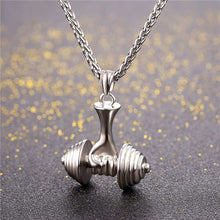 Load image into Gallery viewer, Deluxe Dumbbell Necklace | BigGymStore.com - biggymstore