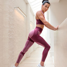 Load image into Gallery viewer, Love Burgundy Print Yoga Pants | BigGymStore.com - biggymstore