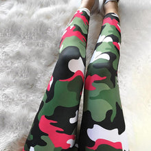 Load image into Gallery viewer, Pink/Grey Camo Print Yoga Pants | BigGymStore.com - biggymstore