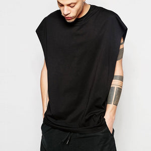 Oversized Relaxed Sleeveless Tee - biggymstore