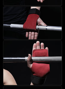 2 In 1 Wrist Support & Palm Protection Workout Handgrips | BigGymStore.com - biggymstore