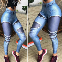 Load image into Gallery viewer, Faux Ripped Jeans Yoga Pants | BigGymStore.com - biggymstore