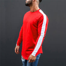 Load image into Gallery viewer, Long Sleeve Block Stripe Sweatshirt | BigGymStore.com - biggymstore