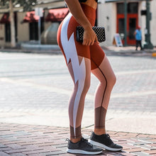 Load image into Gallery viewer, Lightning Stripe Yoga Pants | BigGymStore.com - biggymstore