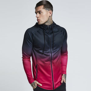 Ice Cold Gradient Hooded Zipper Jacket | BigGymStore.com - biggymstore