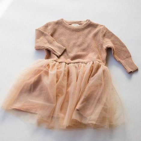 tutu sweater dress in amber