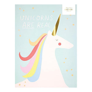 meri meri rainbow & unicorns print