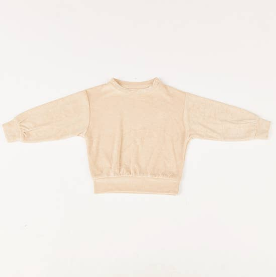 maybell terrycloth sweatshirt in cream