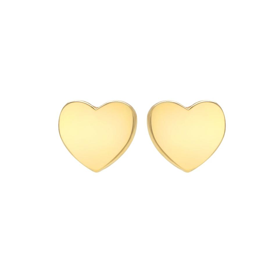 caitlin nicole jewelry heart studs in 14k gold