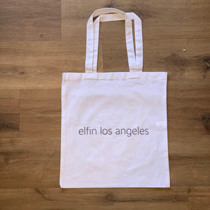 signature elfin los angeles logo tote