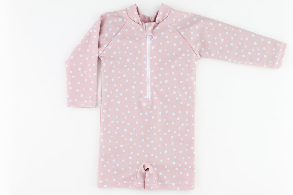 current tyed june sunsuit in pink dots