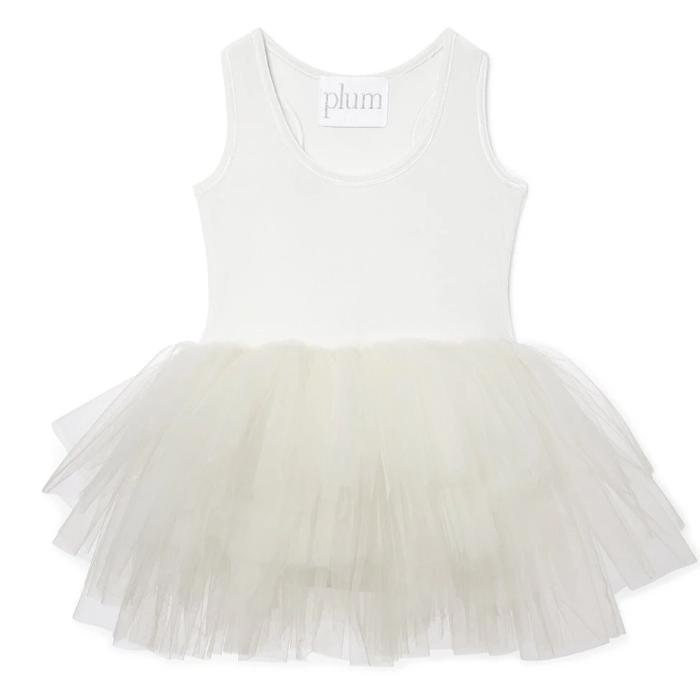 plum nyc B.A.E. tutu dress in lucy white