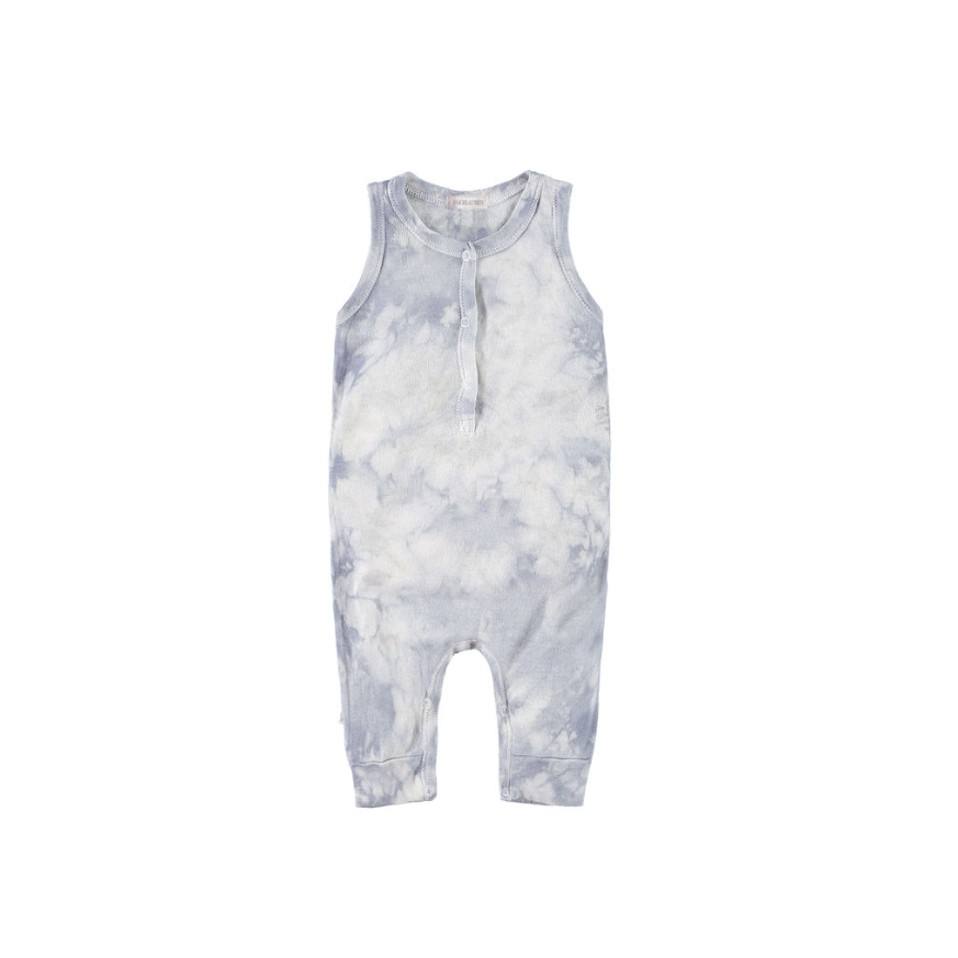 paige lauren tie dye tank cloud wash romper