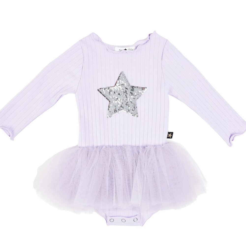 petite hailey baby star tutu in purple