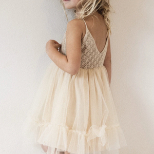 raised by water elle dress in beige