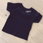 ef the label hand embroidered toddler tee shirt