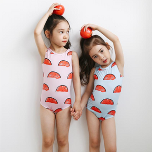 petite hailey watermelon swimsuit in pink