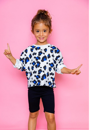 joah love kennedy top in white cheetah