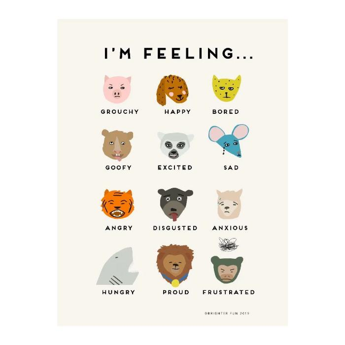 betsy petersen feelings poster by brighter fun