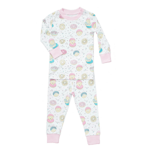 baby noomie 2 piece pajamas in donuts