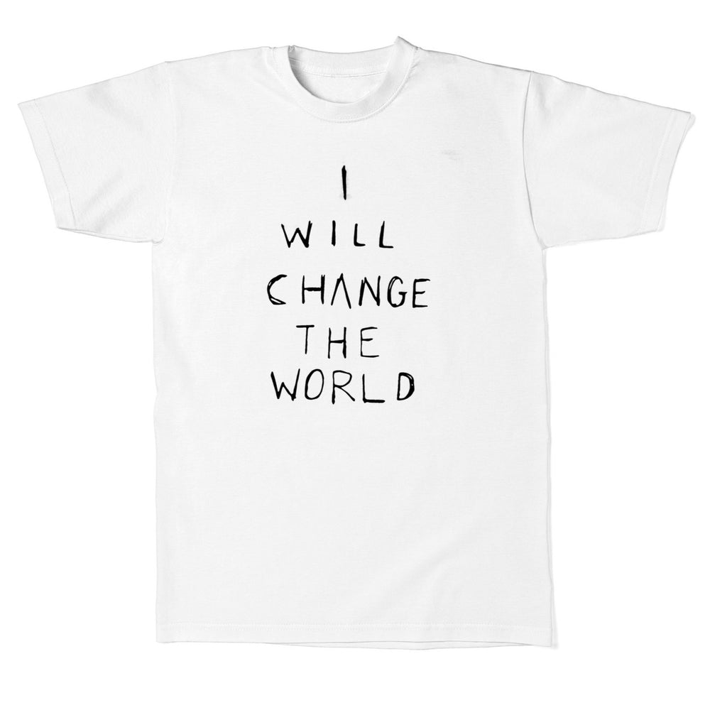 brave & love 'i will change the world' tee