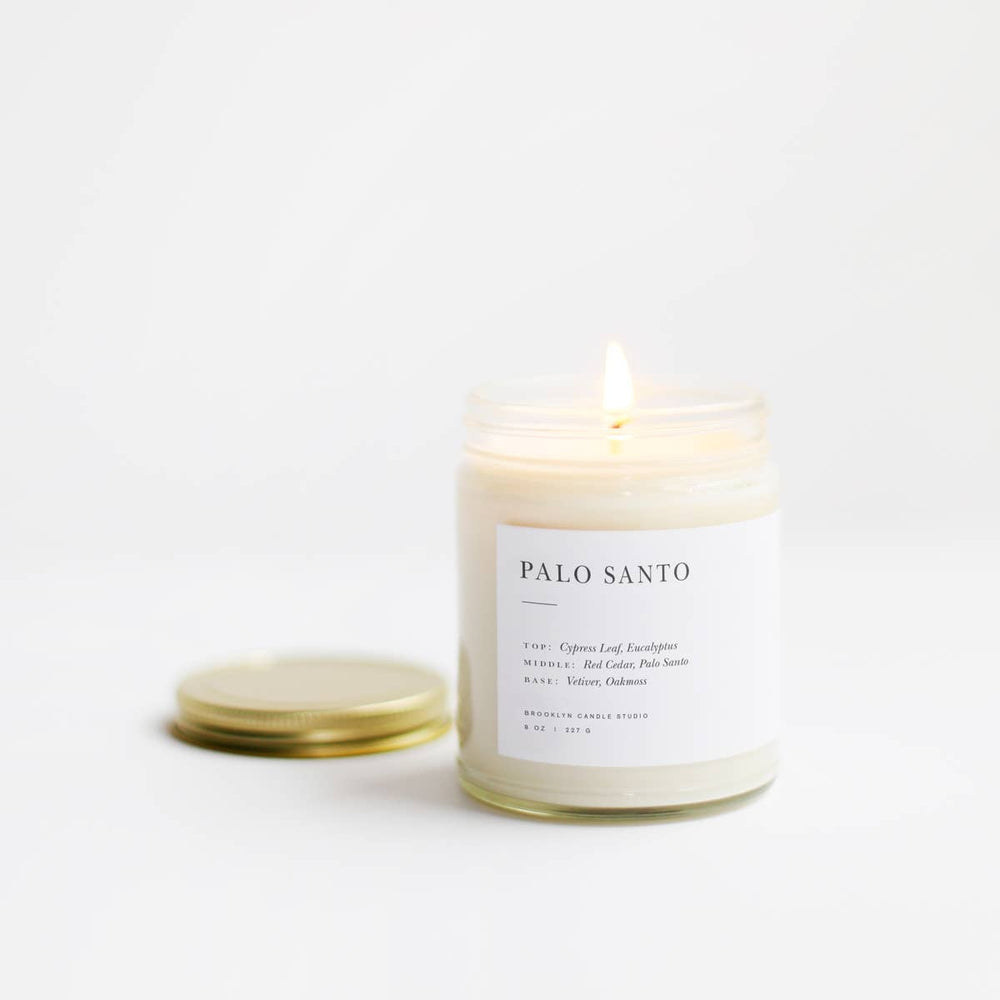 brooklyn candle studio palo santo minimalist candle