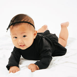 current label swim goldie long sleeve baby one piece in black