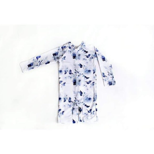 current tyed ryann sunsuit in blue floral