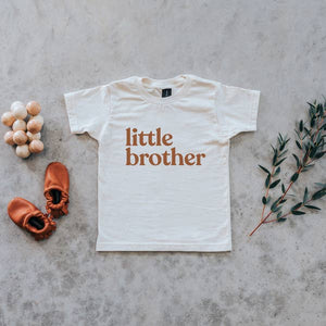"gladfolk ""little brother"" organic cotton kids tee in camel"