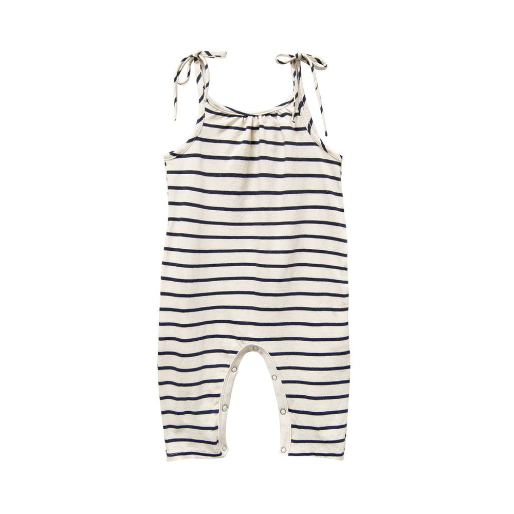 go gently nation jersey jumpsuit in navy stripe