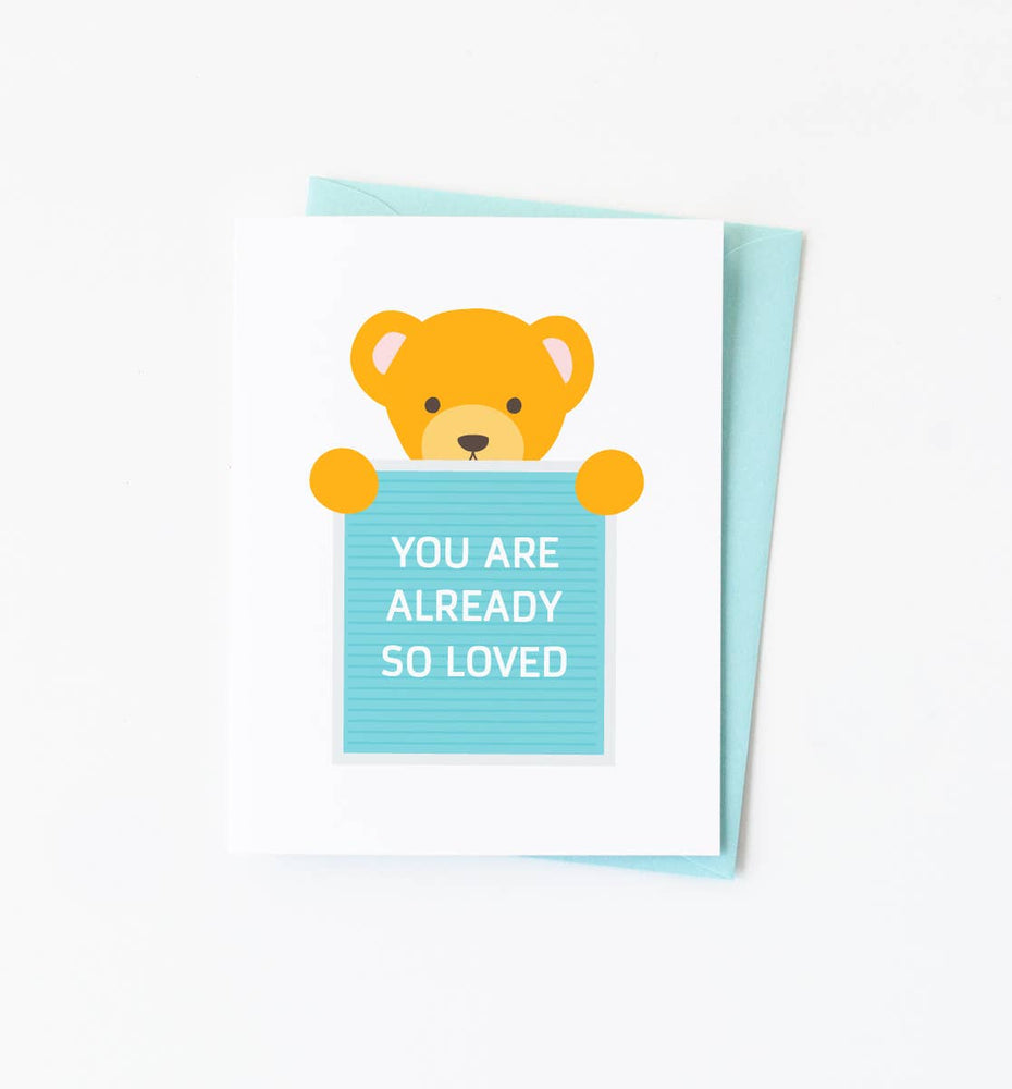 graphic anthology teddy bear card