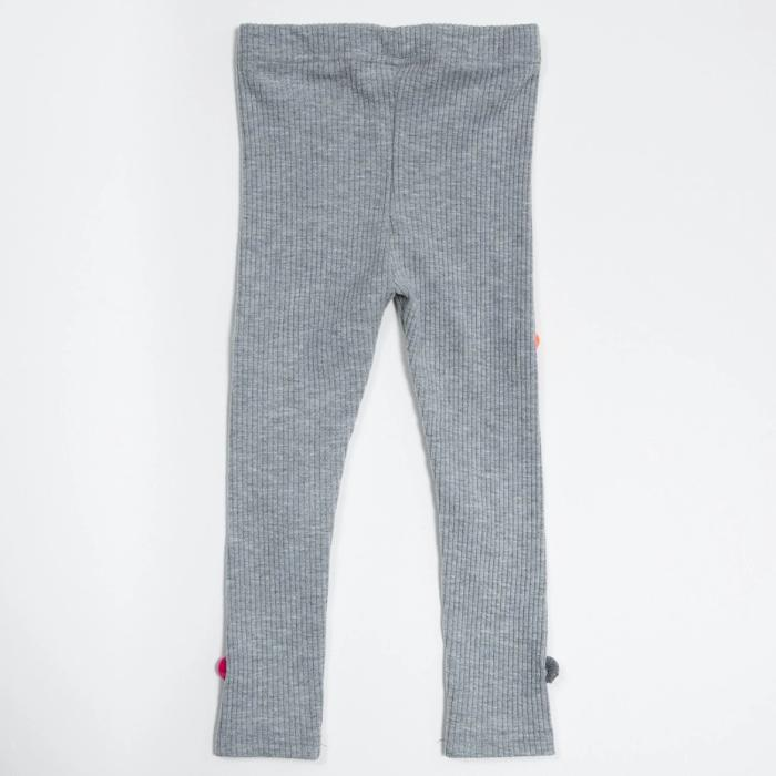 petite hailey pom pom leggings in grey