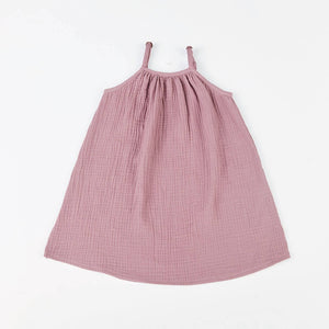 maybell studio strap dress in rose grey