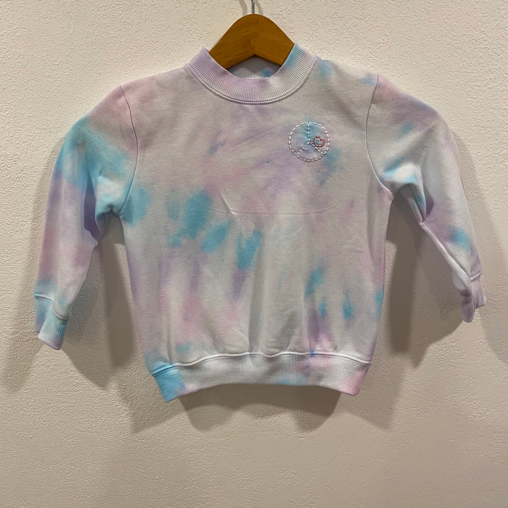 "ef the label tie dye ""peace"" toddler sweatshirt"