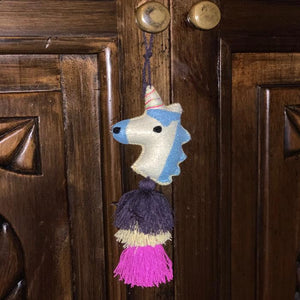 elfin los angeles unicorn door hanging