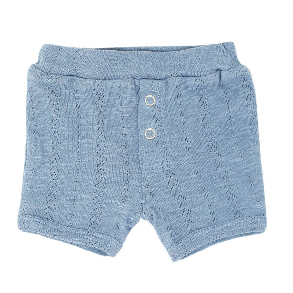 l'oved baby organic cotton pointelle shorts in pool