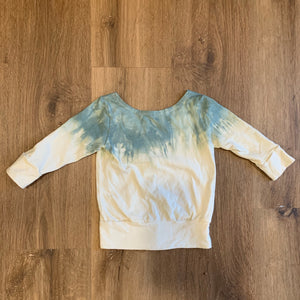 elfin x the painted crane  tie dye slouchy sweatshirt