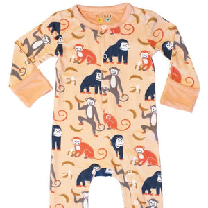 clover baby & kids monkey footie in spanish villa