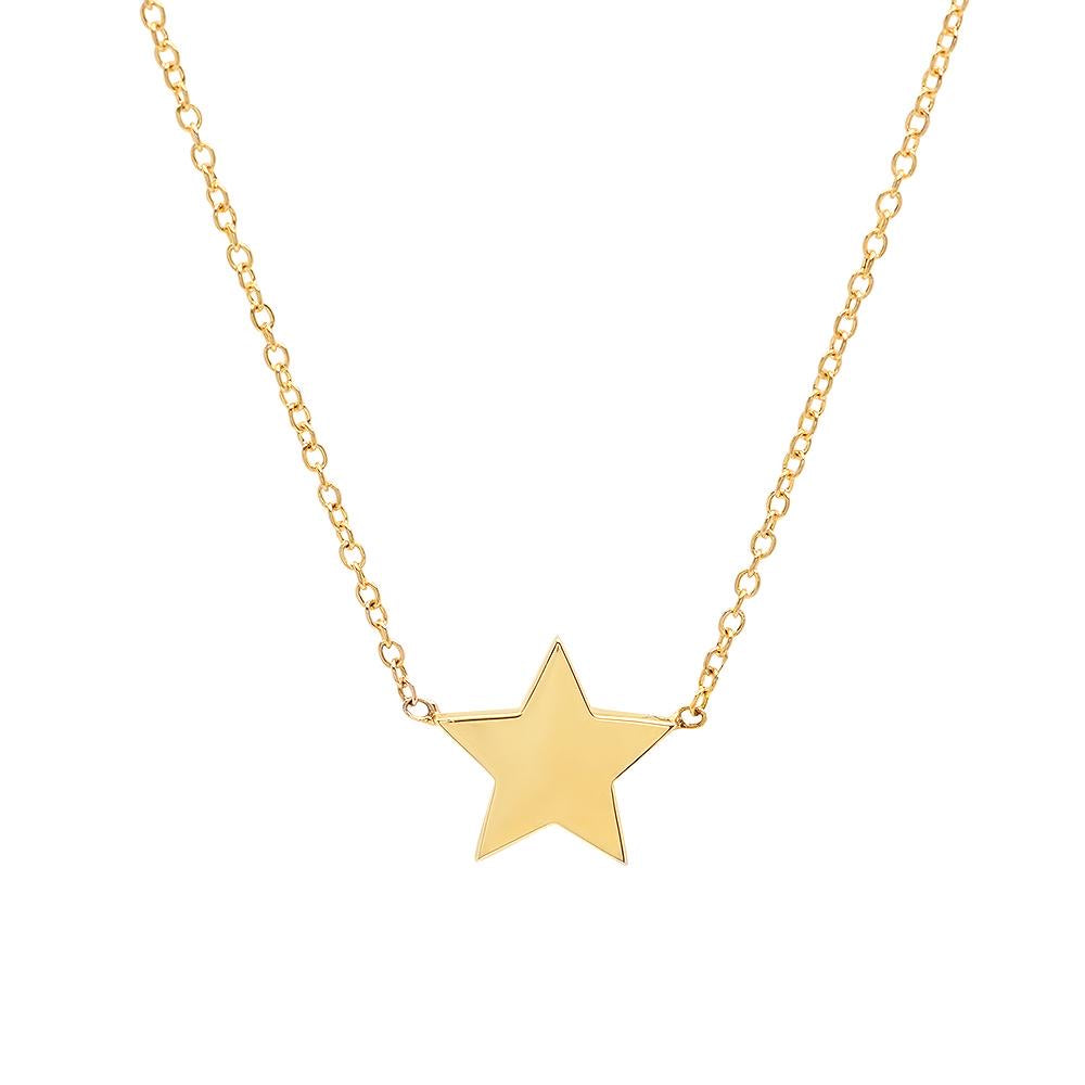 caitlin nicole jewelry single star necklace in 14k gold