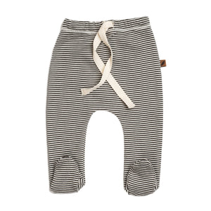 kid wild organic footed pants in stripe