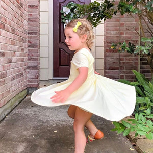 olliejay yellow rose twirl dress
