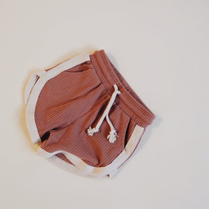 orcas lucille retro shorts in terra-cotta