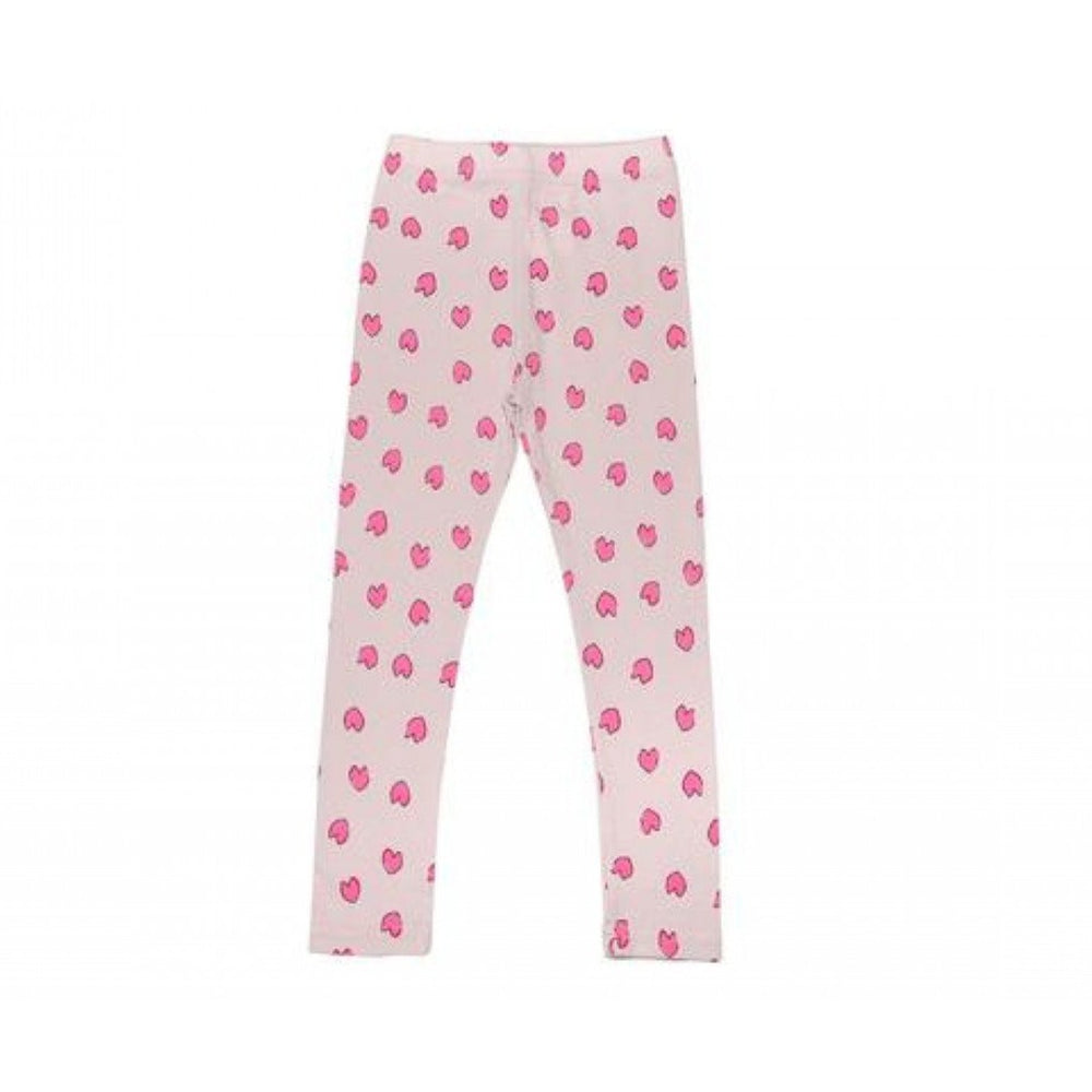 petite hailey heart leggings in pink