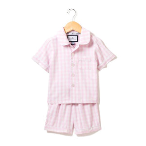 petite plume pink gingham short set