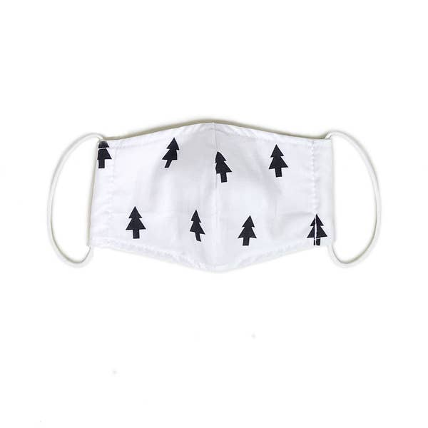 port 213 kids organic cotton face mask in tree print