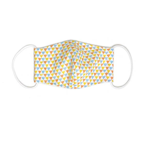 port 213 kids organic cotton face mask in triangle print