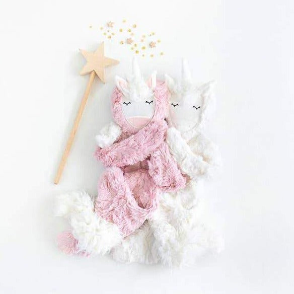 slumberkins unicorn snuggler in rose