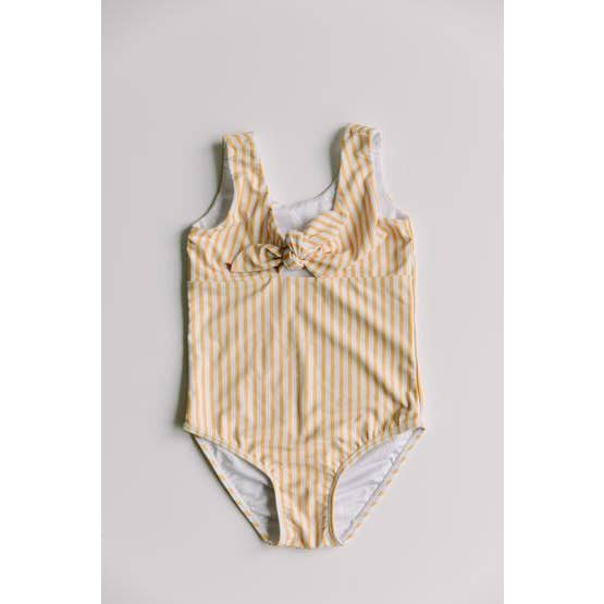 sunberry yellow striped one piece swimsuit