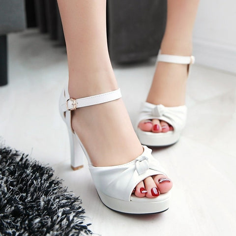 34bd2655c3b467 Fish Mouth Hasp Waterproof Rough With High-Heeled Sandals
