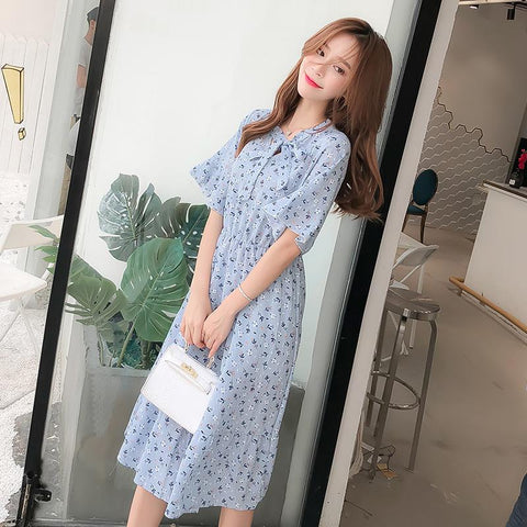 130a58f2b9399 A Substitute For Chiffon Dress Summer Wear Korean Version Broken Flower  First Love Skirt Ancient Gentle